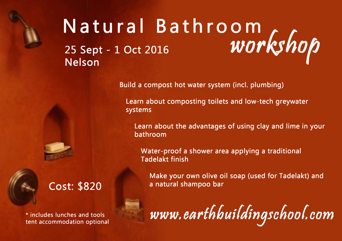 Natural Bathroom Workshop (clay, lime, soap, greywater)
